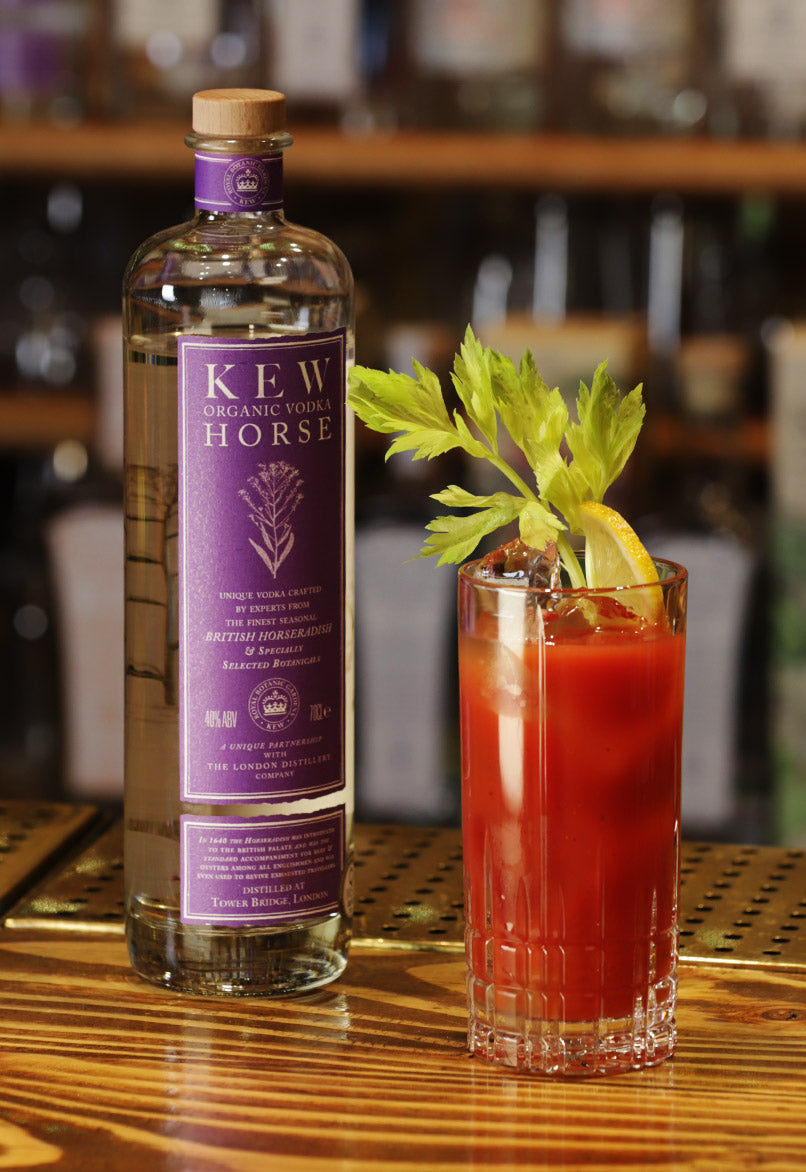Bloody Mary cocktail with Kew Organic Vodka