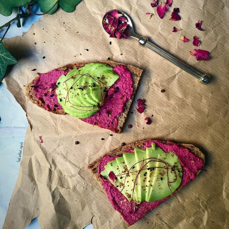 Recipe: Horseradish Beet Avocado Toast
