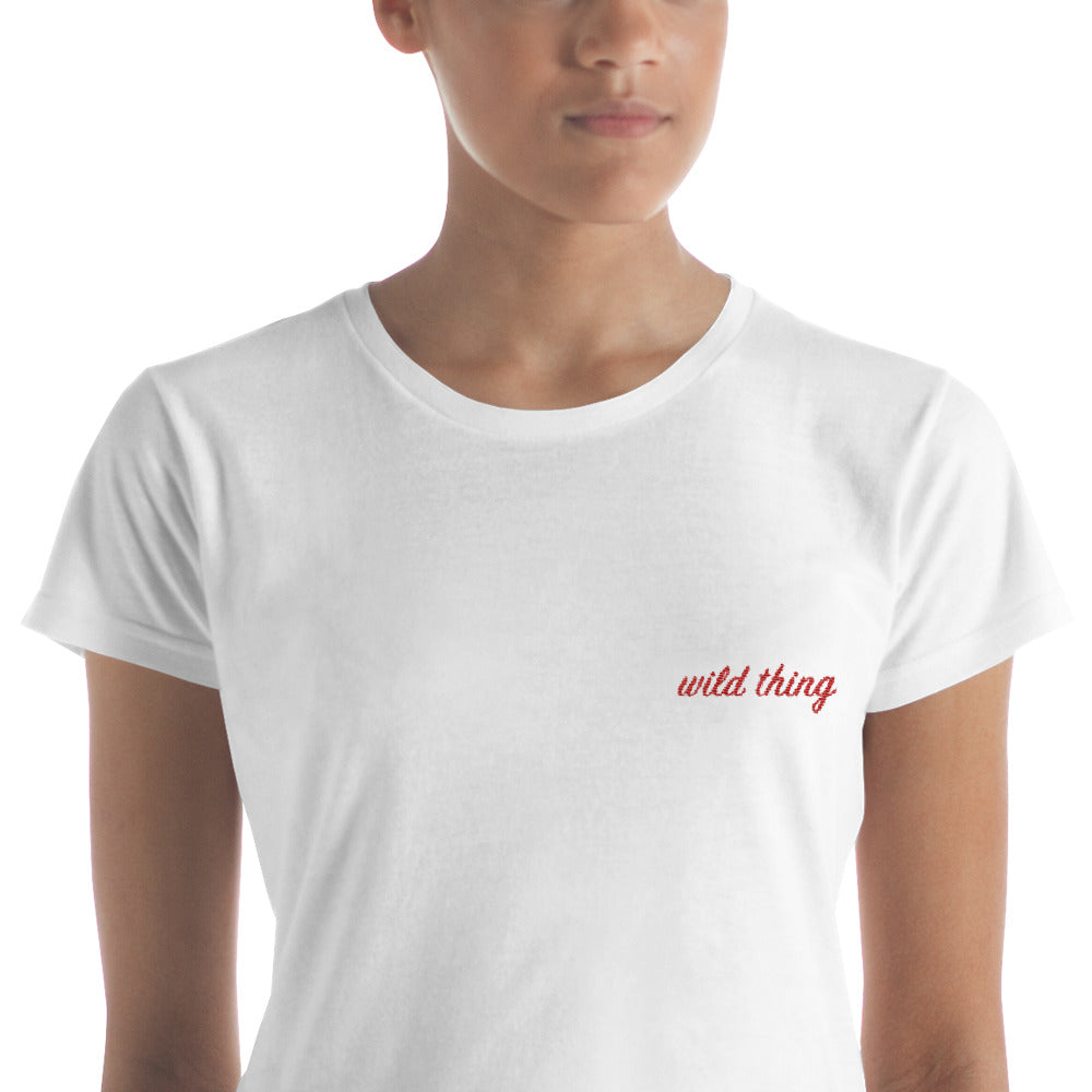 wild thing embroidered tee