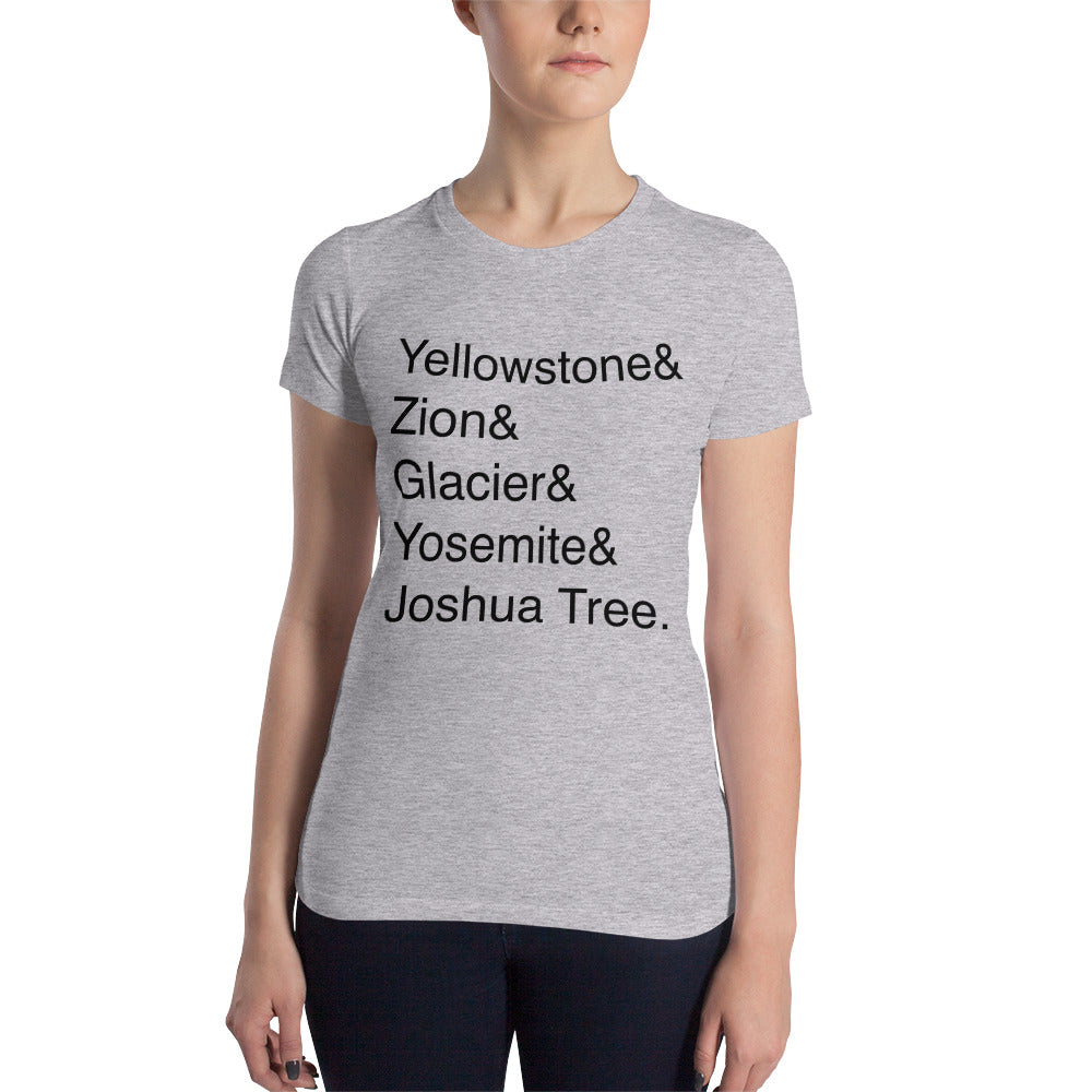 National Park Helvetica Tee