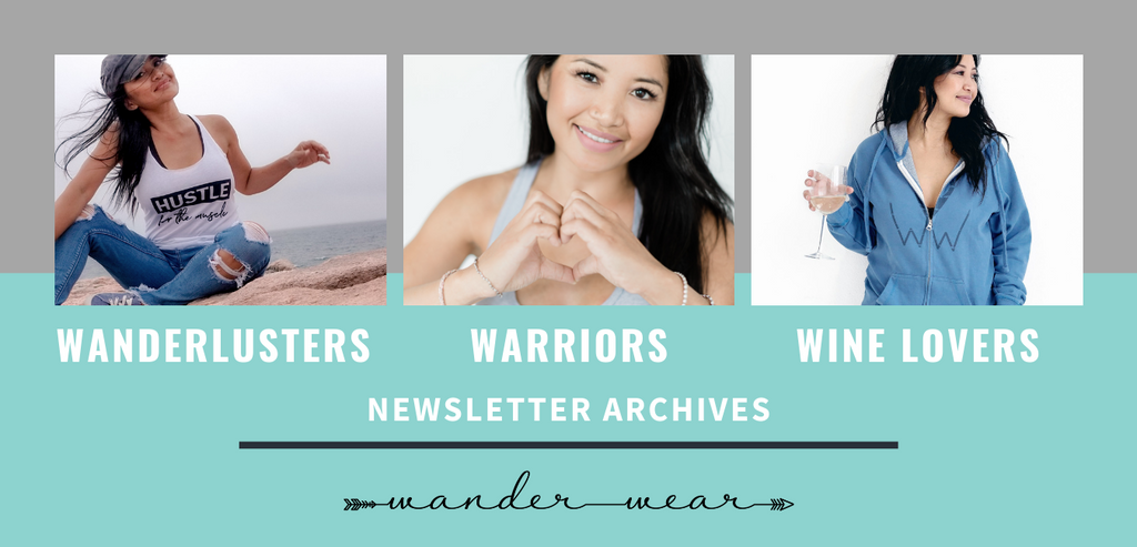 Shop Wander Wear Newsletter Archives | Inspirational Leisurewear | Travel Inspied