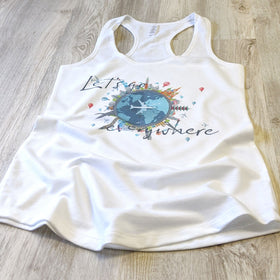 Let's Go Everywhere | Travel Inspired Leisure Wear | Racerback Tank