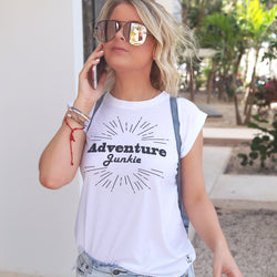 Adventure Junkie | Travel Inspired Leisure Wear | Muscle Tank