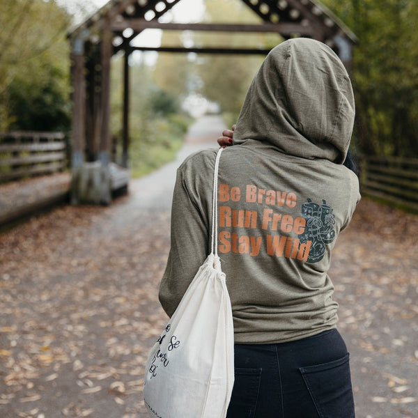 Be Brave. Run Free. Stay Wild | Unisex Lightweight Hoodie