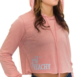 Just Peachy | Inspirational Athleisure Wear | Cropped Long Sleeve Hoodie | Shop Wander Wear