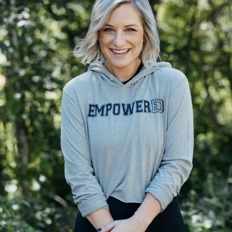 Empowered | Cropped Long Sleeve Hoodie