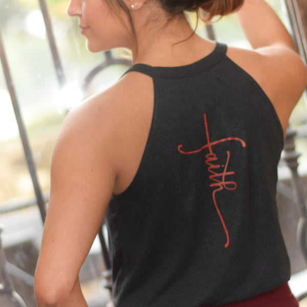 Faith | Inspirational Leisure Wear | High Neck Tank | Shop Wander Wear