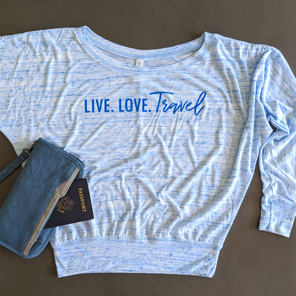 Live. Love. Travel. | Flowy Long Sleeve