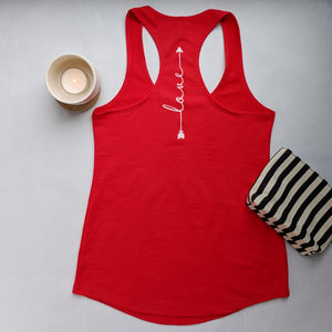 Love | Inspirational Leisure Wear | French Terry Racerback Tank | Shop Wander Wear