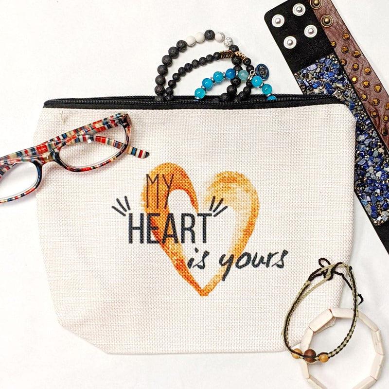 My Heart is Yours Makeup Bag | Travel Accessories