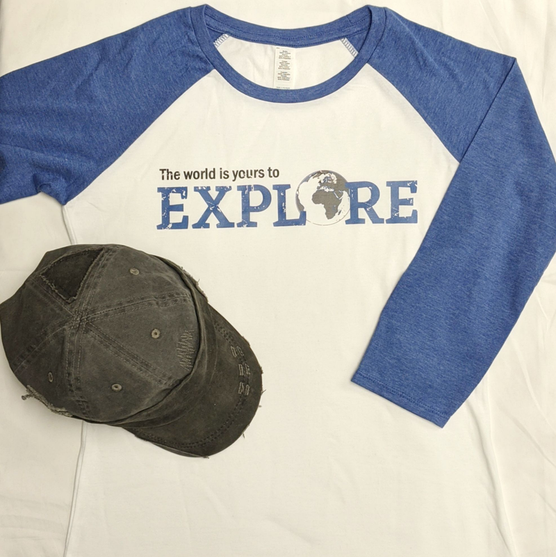 The World is Yours to Explore | 3/4 Ragland Tee