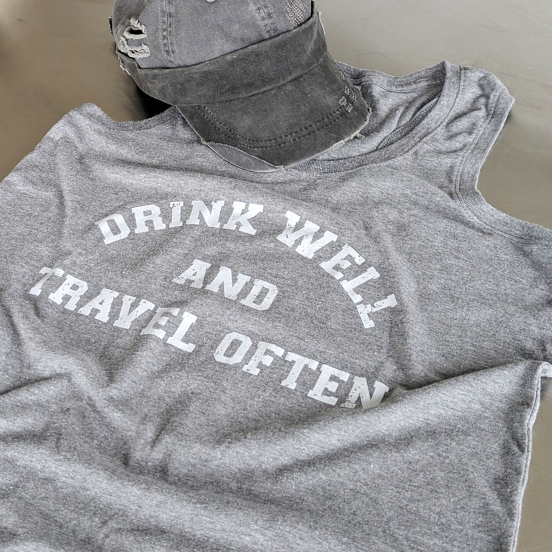 Drink Well Travel Often | Racerback Tank