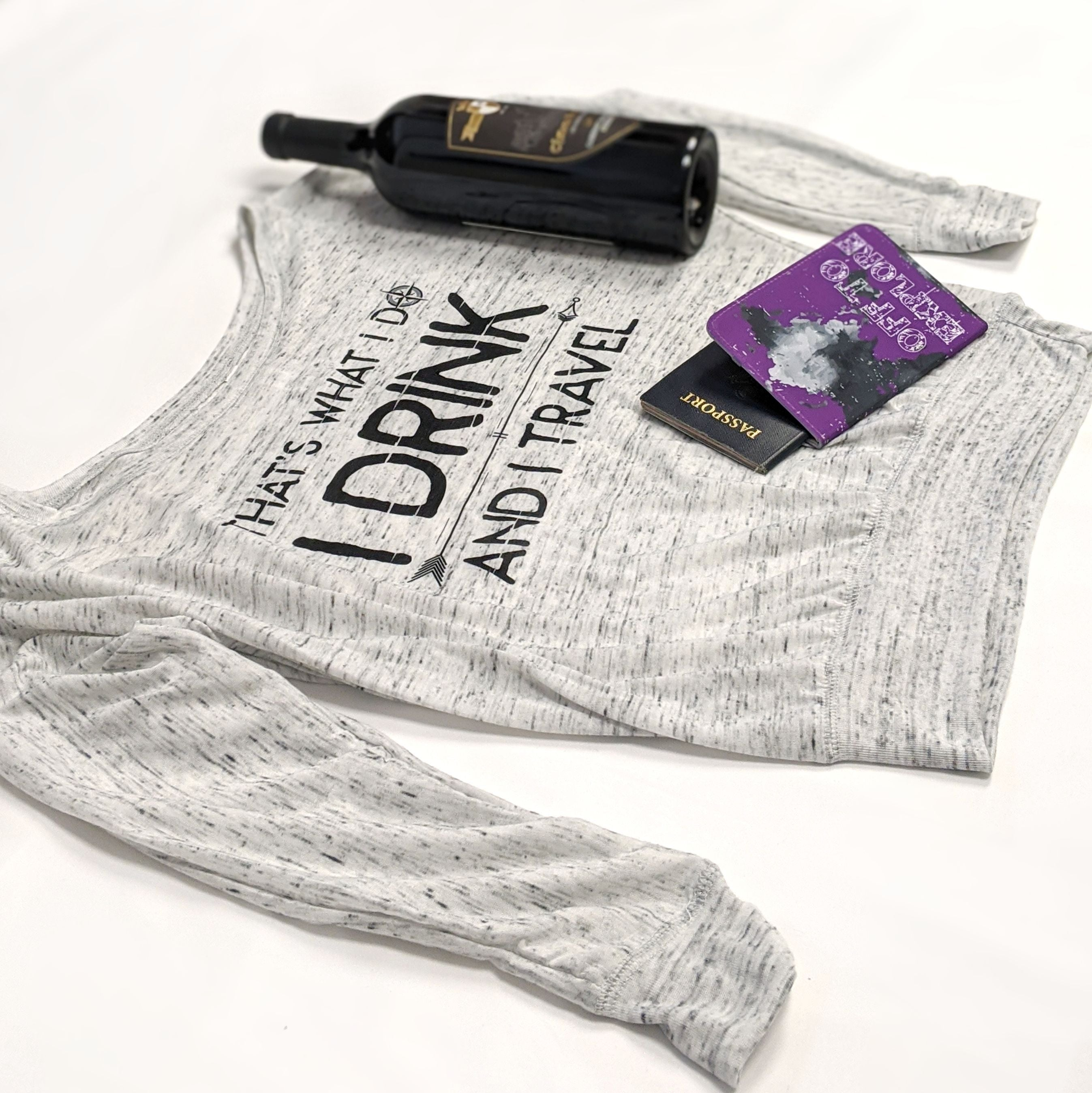 Image of I Drink and I Travel | Flowy Long Sleeve