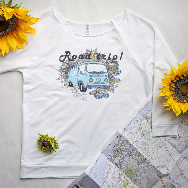 Road Trip | Travel Inspired Leisure Wear | French Terry Long Sleeve | Shop Wander Wear