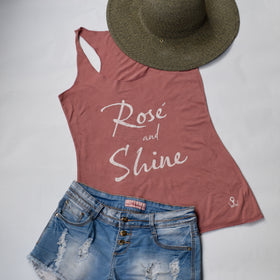 Rosé and Shine | Comfortable Leisure Wear | Tipsy Tanks