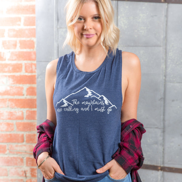 The Mountains are Calling | Muscle Tanks