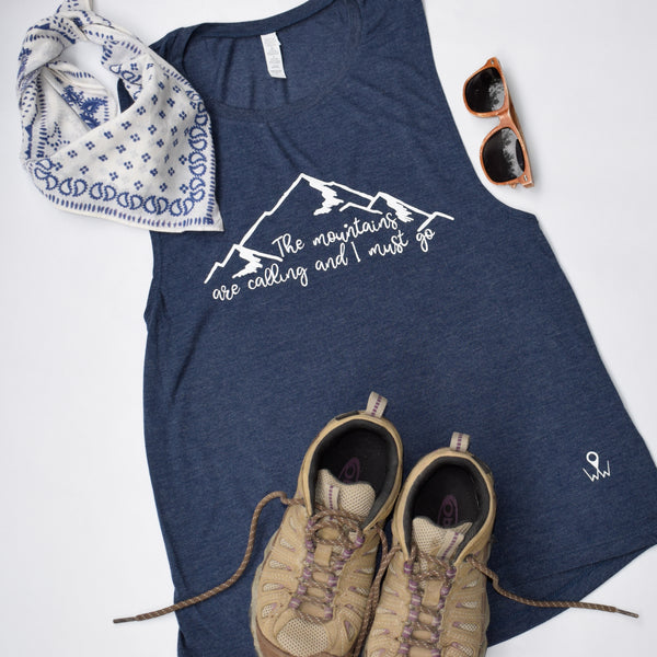 The Mountains are Calling | Travel Inspired Leisure Wear | Muscle Tanks | Shop Wander Wear