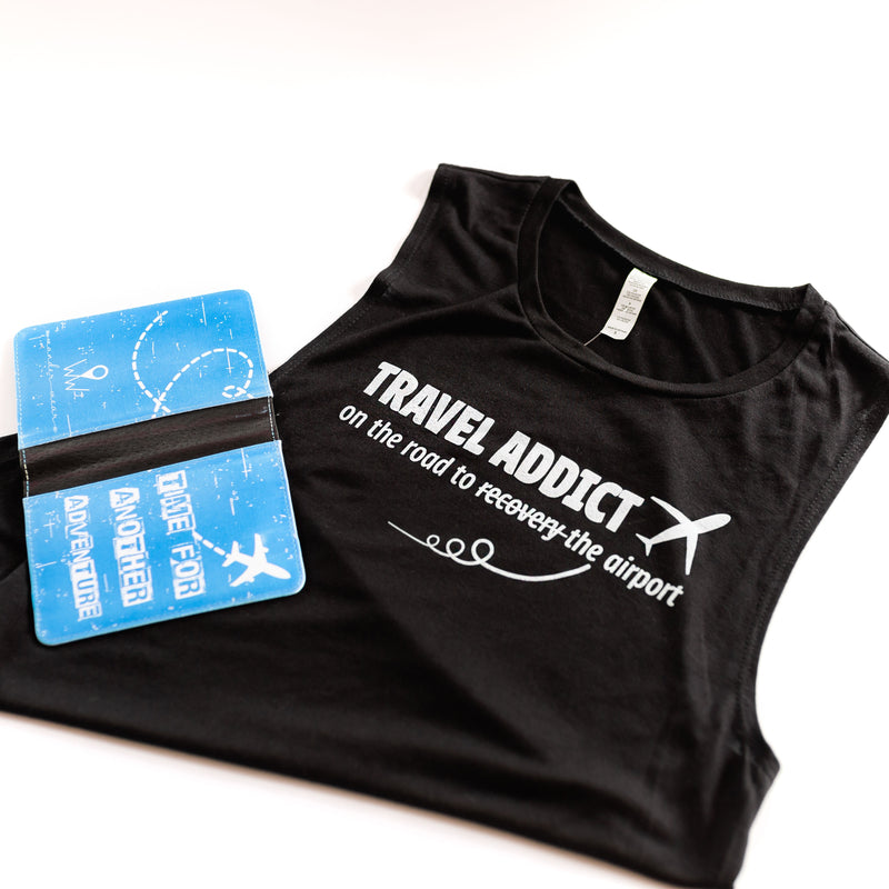 Travel Addict | Travel Inspired Leisure Wear | Muscle Tanks