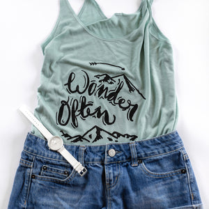 Wander Often | Travel Inspired Leisure Wear | Slouchy Tank