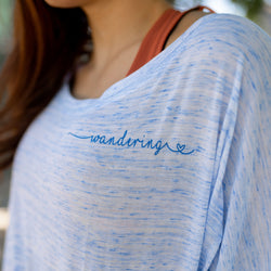 Wandering Heart II | Travel Inspired Leisure Wear | Flowy Long Sleeve