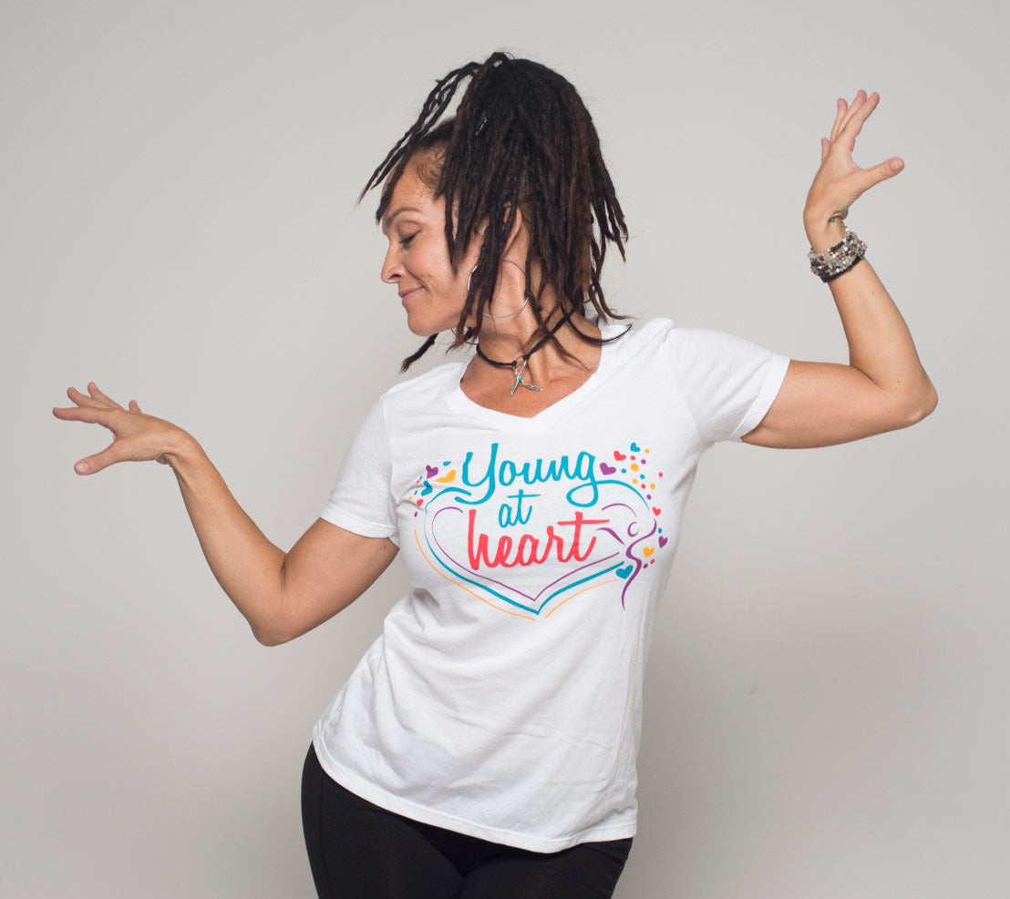 Young At Heart V-Neck Tee