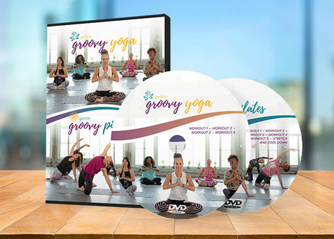 Gentle Groovy Yoga and Gentle Groovy Pilates DVDs