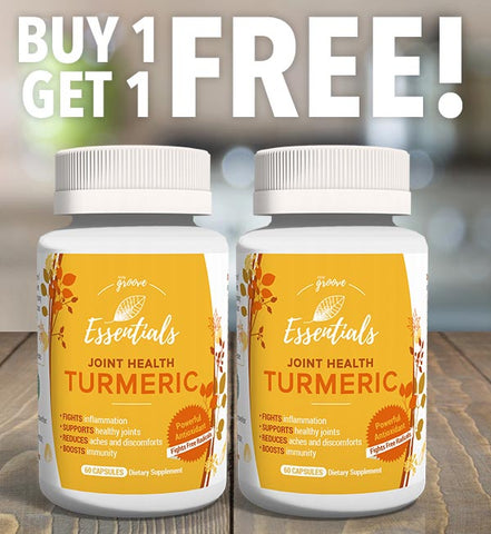 Body Groove Essentials Joint Health Turmeric - 2 bottles - Buy One Get One Free