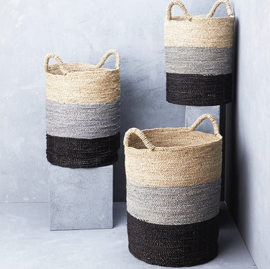 Striped Seagrass Baskets