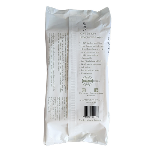 ECO Bamboo Biodegradable 80 Wipes - MADE IN NZ - LittleShoppers