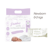FREE TRIAL Newborn 0-3 kgs (size 1) ECO PACK // Nappies Wipes - LittleShoppers