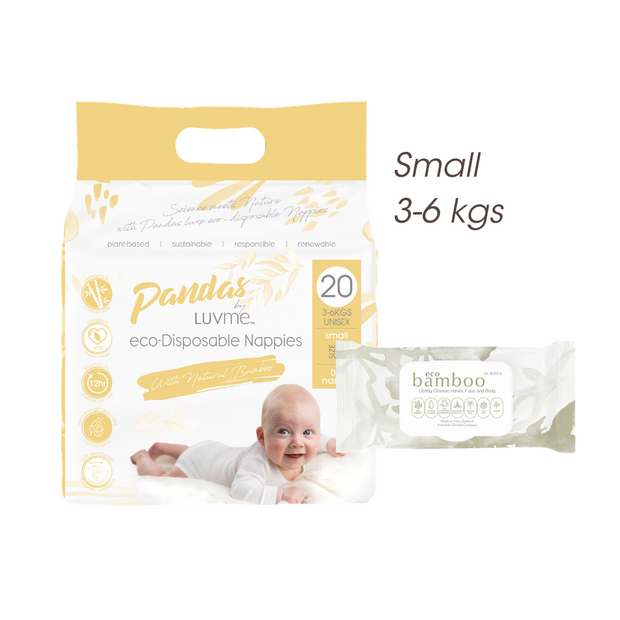FREE TRIAL Small 3-6 kgs (size 2) ECO PACK // Nappies Wipes - LittleShoppers