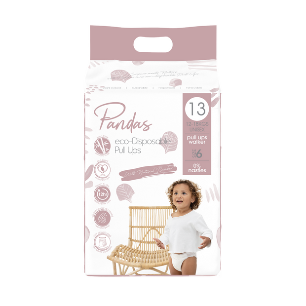 Pandas by Luvme ECO Disposable BAMBOO Pull Ups Size 6 12-18kg - LittleShoppers