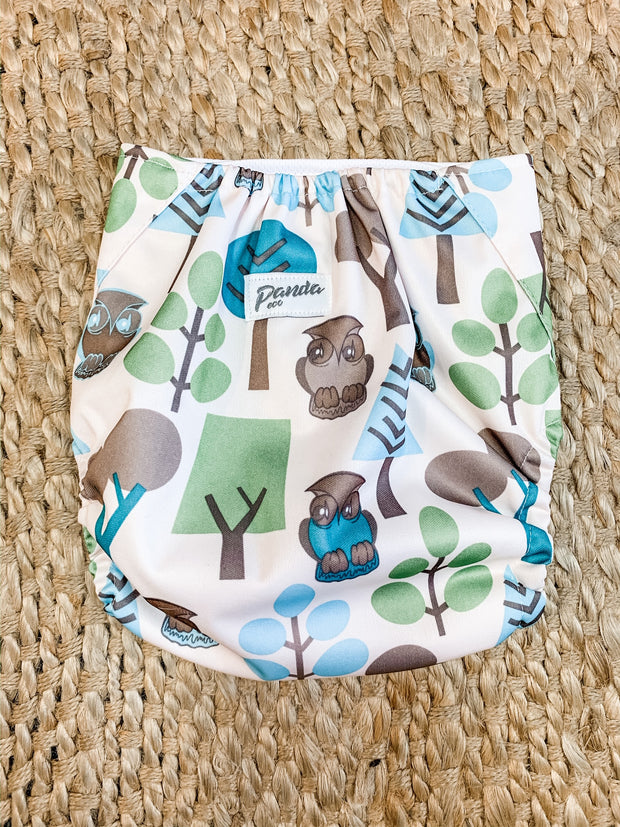 Pandas by Luvme ECO Reusable Swim Nappies OWL - LittleShoppers