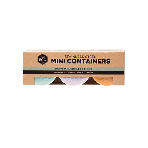 Ever ECO Mini Containers Pastels 3 X 60ML