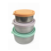 Ever ECO Round Nesting Containers Pastels 3 PIECE SET - LittleShoppers
