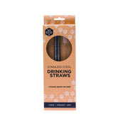 Ever ECO Stainless Steel Straws Straight 2 PACK - LittleShoppers