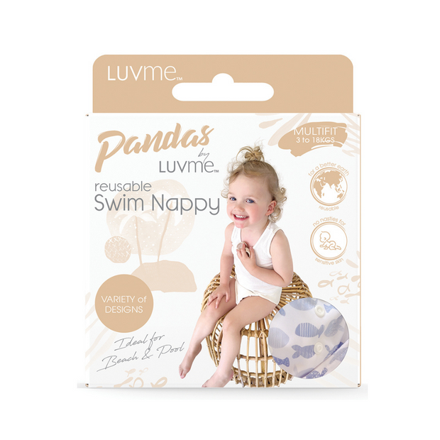 Pandas by Luvme ECO Reusable Swim Nappies - FISH - LittleShoppers