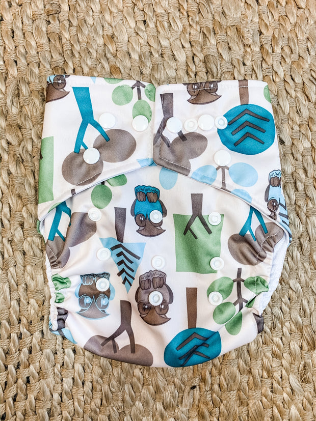 Panda Eco by Luvme Reusable Swim Nappy OWL - LittleShoppers