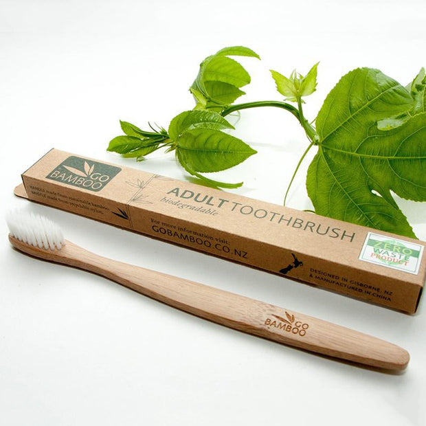 Go Bamboo Natural Biodegradable Toothbrush -Adult - LittleShoppers