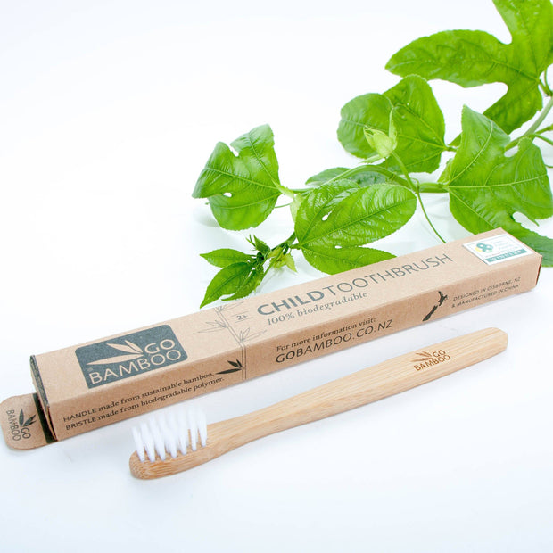 Go Bamboo Natural Biodegradable Toothbrush -Children - LittleShoppers