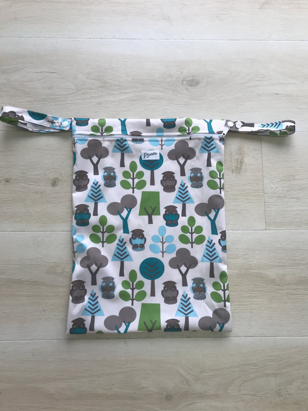 Pandas by Luvme ECO Reusable Wet Dry Bags OWL - LittleShoppers