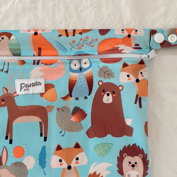 Pandas by Luvme ECO Reusable Wet Dry Bags BLUE FOX - LittleShoppers