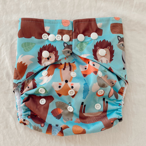 Pandas by Luvme ECO Reusable Swim Nappies BLUE FOX - LittleShoppers