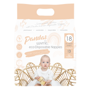 Pandas by Luvme ECO Disposable BAMBOO Nappies MEDIUM 6-11kg - LittleShoppers