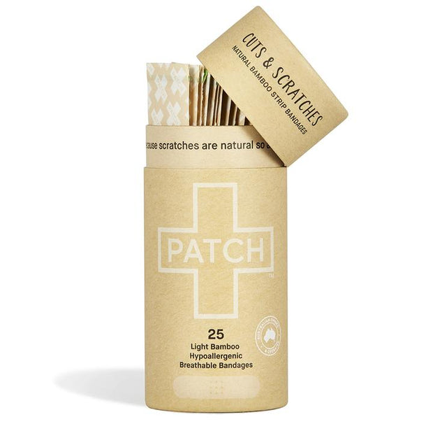 PATCH Adhesive Bamboo Bandages  Natural - Cuts & Scratches - LittleShoppers