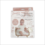Pandas Bamboo Cloth Nappy and Insert - Natural - LittleShoppers