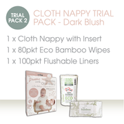 CLOTH NAPPY TRIAL PACK - Dark Blush