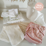 CLOTH NAPPY TRIAL PACK - Dark Blush - LittleShoppers
