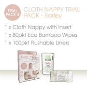 CLOTH NAPPY TRIAL PACK - Barley - LittleShoppers