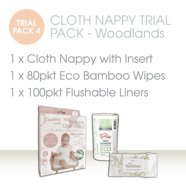 CLOTH NAPPY TRIAL PACK - Woodland - LittleShoppers